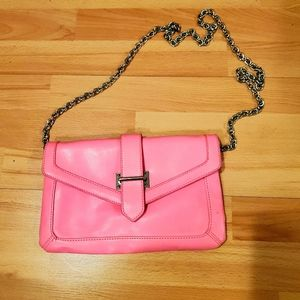 ALDO NEON PINK BAG WITH CHAIN